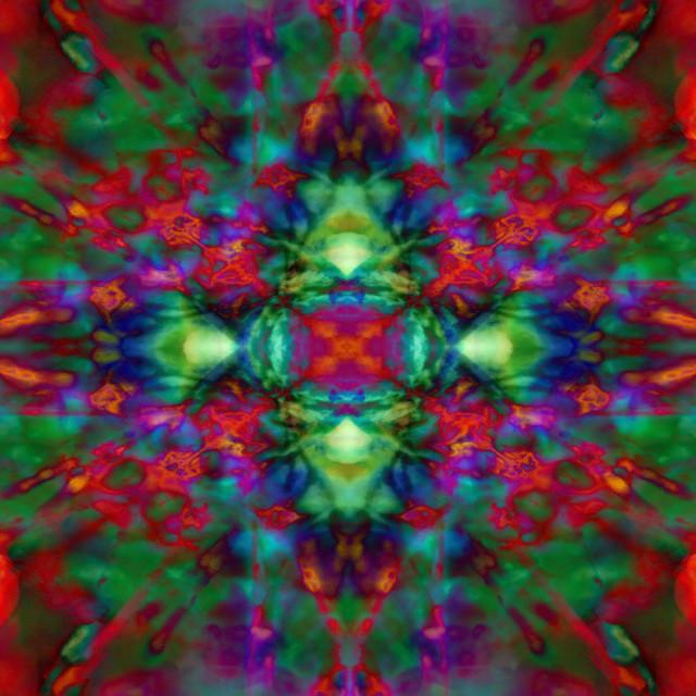 """Psychedelic kaleidoscope pattern"" stock image"