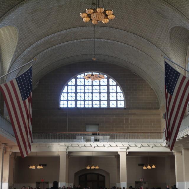 """Ellis Island"" stock image"