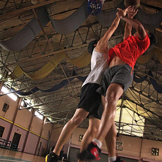 """One on One Basketball Game"" stock image"