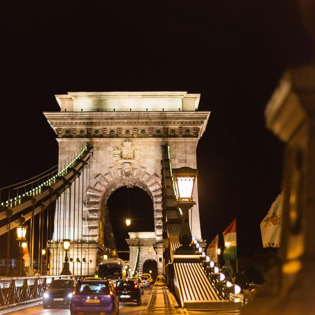 """Chain Bridge, Budapest"" stock image"