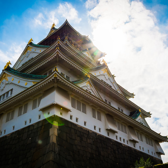"""Majestic Osaka Castle"" stock image"