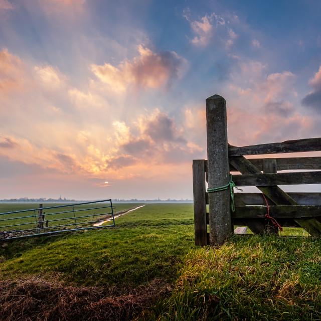 """Meadow Gates"" stock image"