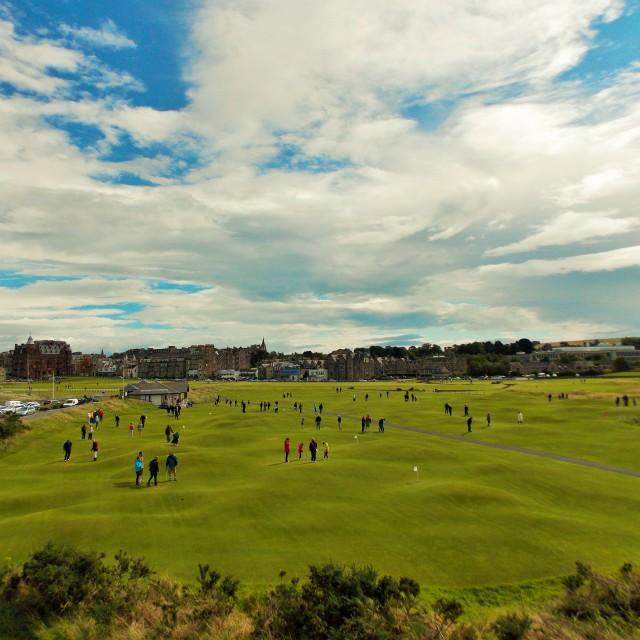 """""""Himalayas putting green, St Andrews, Scotland"""" stock image"""