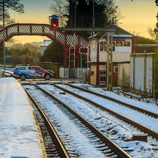 """Railway Crossing"" stock image"