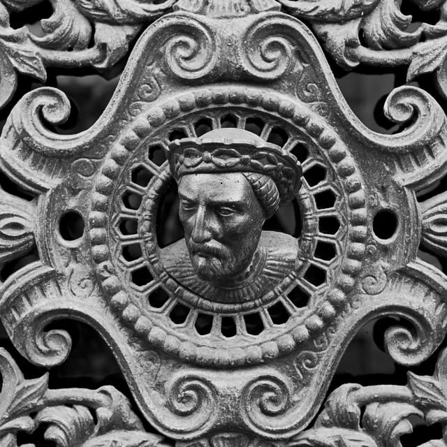 """French door detail"" stock image"
