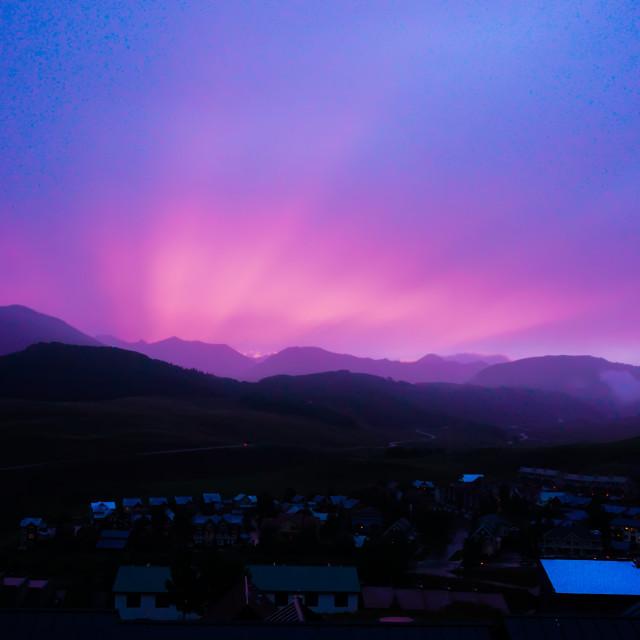 """""""Colorado Sunset"""" stock image"""