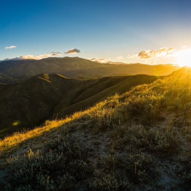 """""""Idaho Sunrise"""" stock image"""