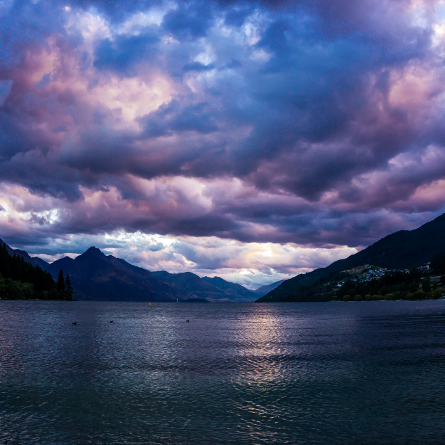 """Storm Over Lake Wakatipu"" stock image"