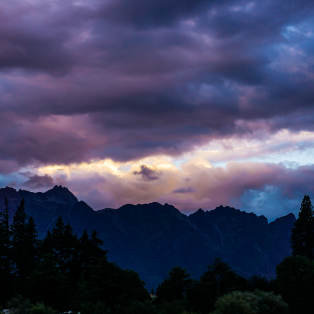 """Storm Over The Remarkables"" stock image"