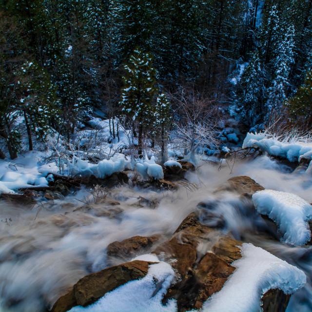 """Winter Waterfall"" stock image"