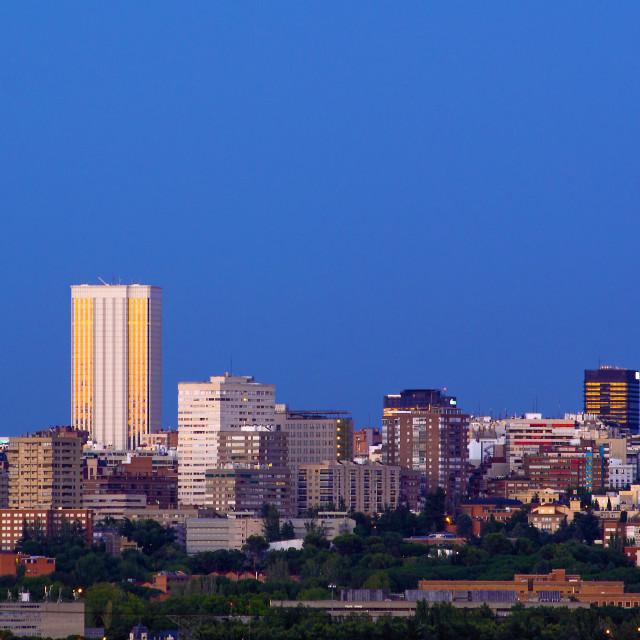 """Madrid Skyline"" stock image"