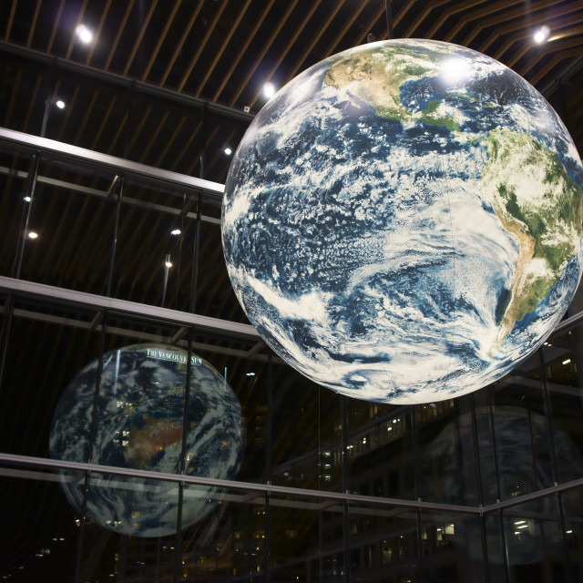 """Giant Globe, Vancouver Convention Centre"" stock image"