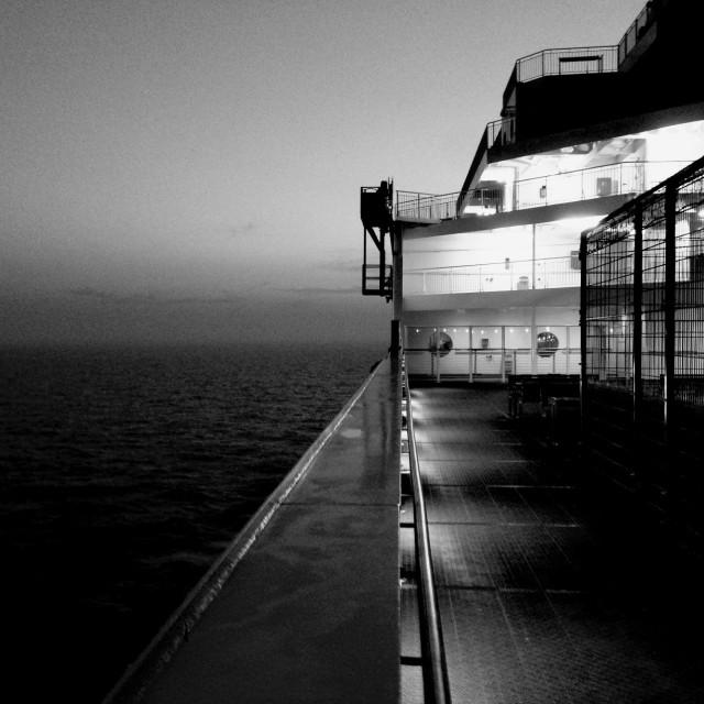 """Night ferry"" stock image"