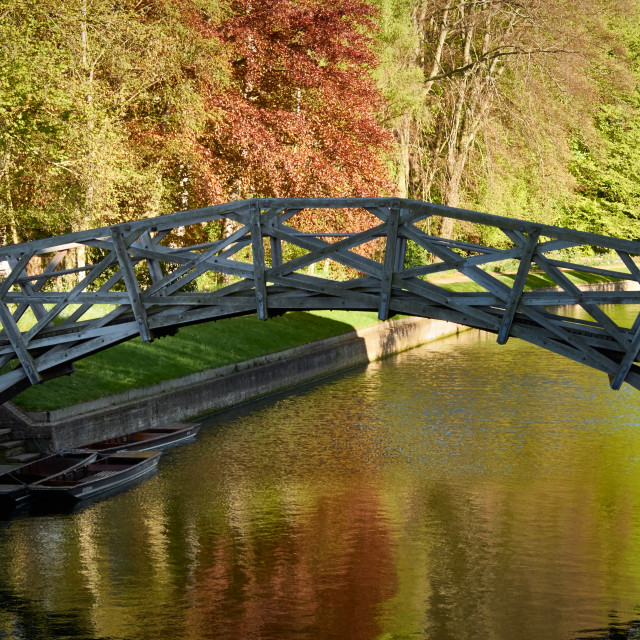 """The Mathematical Bridge in Cambridge"" stock image"