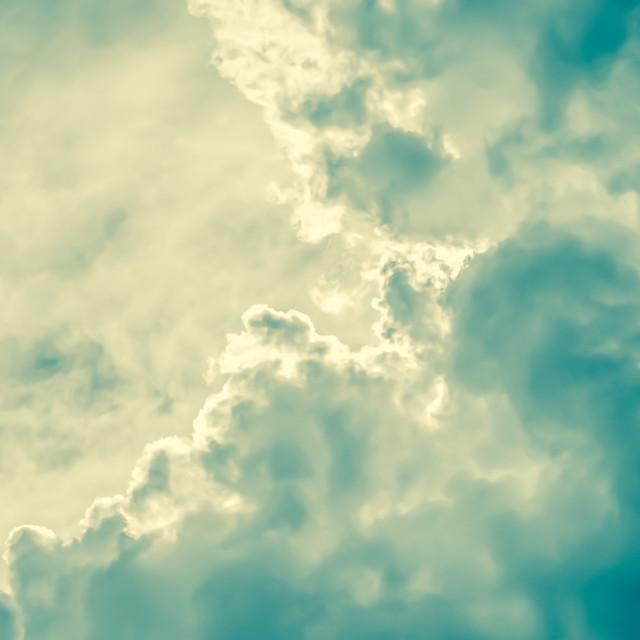 """""""retro cloudscape"""" stock image"""