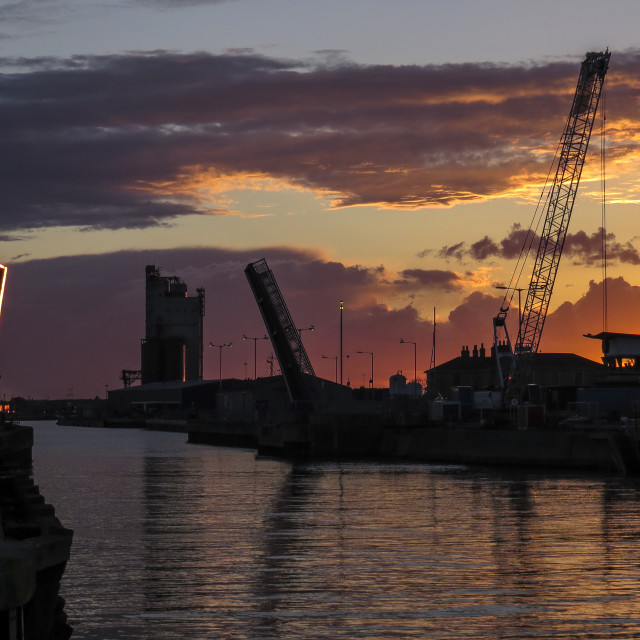"""Harbour Sunset"" stock image"