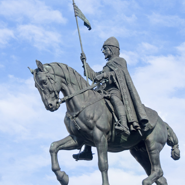 """Statue of King Wenceslas, Prague"" stock image"