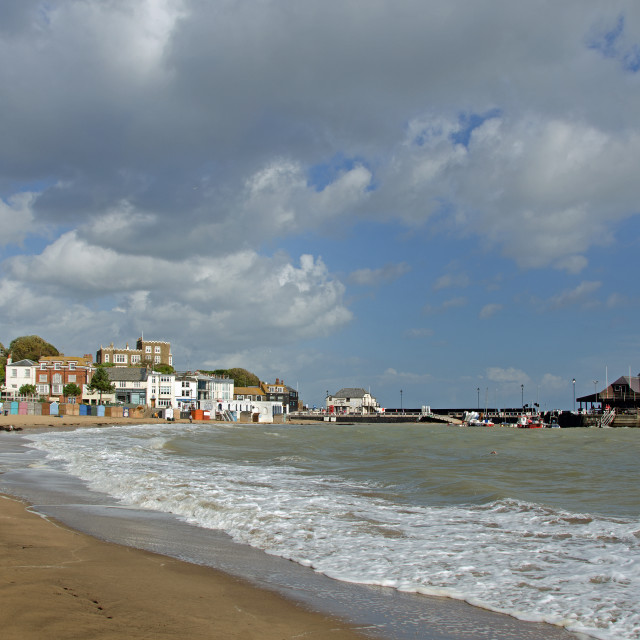 """Viking Bay, Broadstairs, Kent, UK"" stock image"