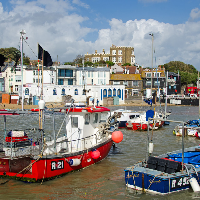 """""""Boats in the Harbour at Broadstairs,, Kent, UK"""" stock image"""