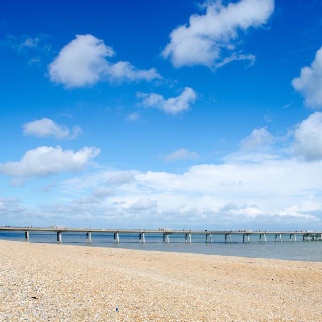 """The Pier at Deal, Kent, UK."" stock image"