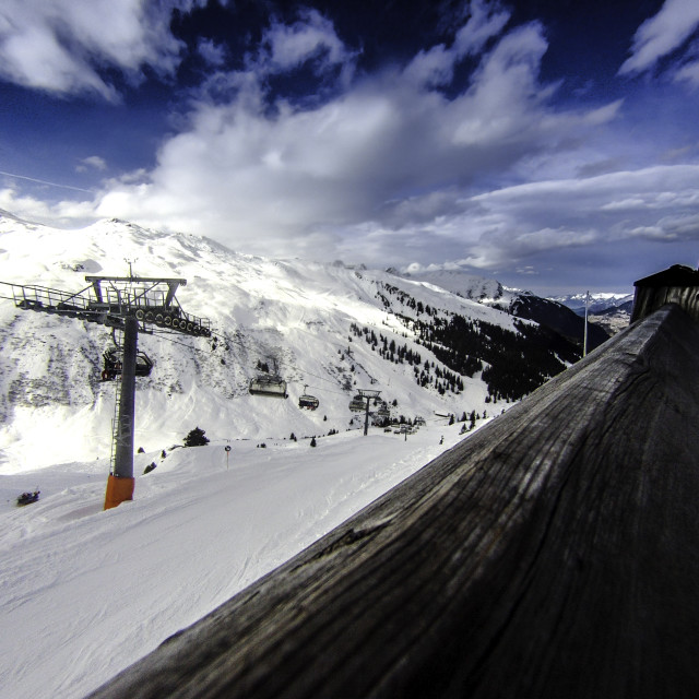 """ski landscape"" stock image"