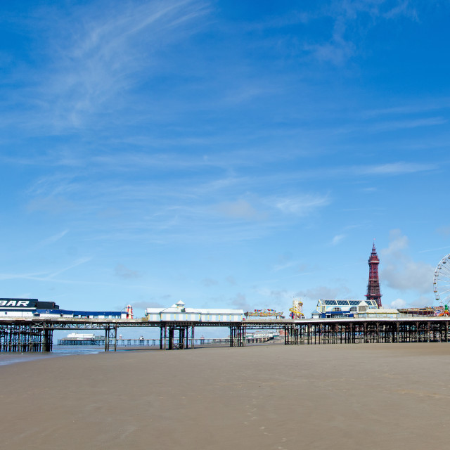 """""""Blackpool Central Pier"""" stock image"""