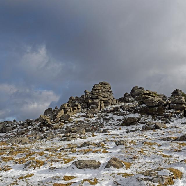 """Hound Tor, Dartmoor"" stock image"