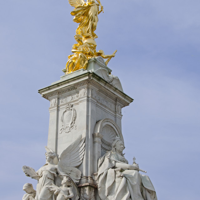 """The Victoria Memorial, London"" stock image"