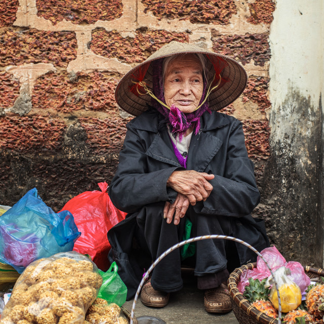 """vendor women at Duong Lam Hanoi"" stock image"