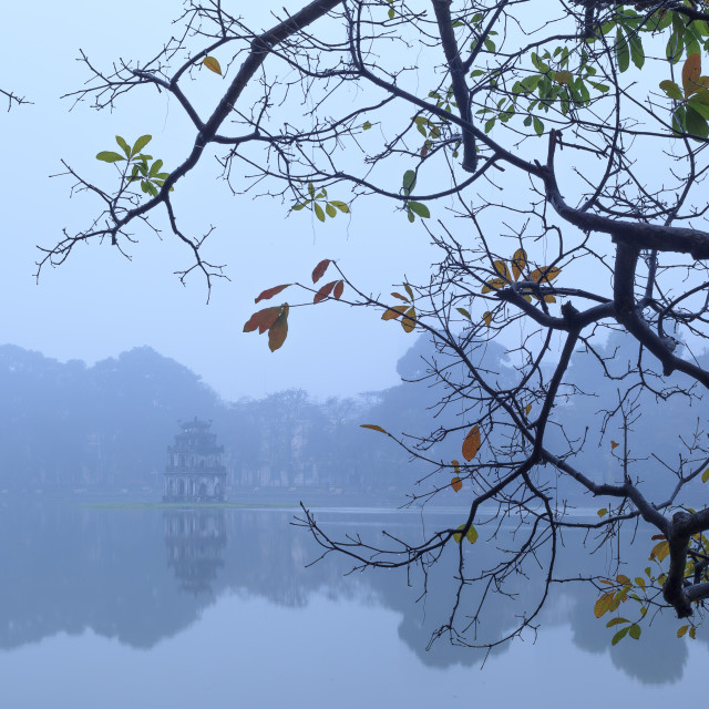 """Sword lake, Hanoi, Vietnam"" stock image"