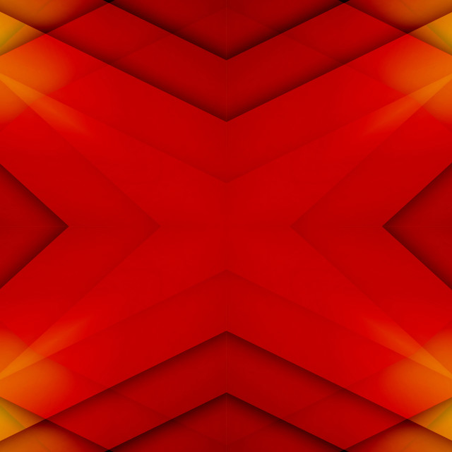 """""""Red and yellow overlapped star"""" stock image"""