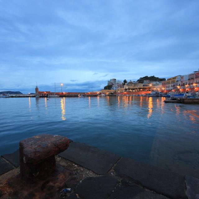 """Ponza Island - The Harbour"" stock image"