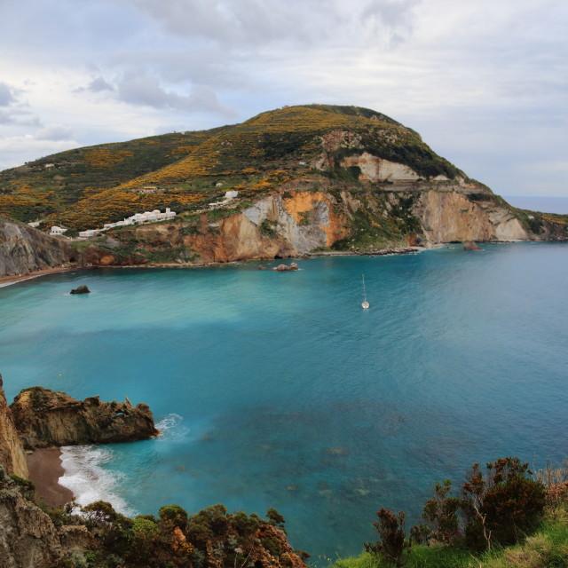 """""""The famous Chiaia di Luna beach - Ponza"""" stock image"""