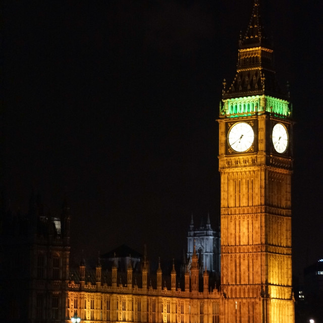 """Parliament at Night"" stock image"