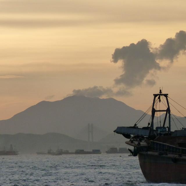 """""""Hong Kong volcano"""" stock image"""