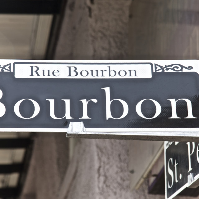 """Bourbon Street, New Orleans"" stock image"