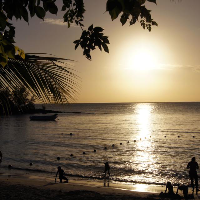 """Mauritius Sunset"" stock image"