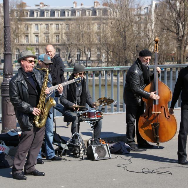 """Parisian Jazz band"" stock image"
