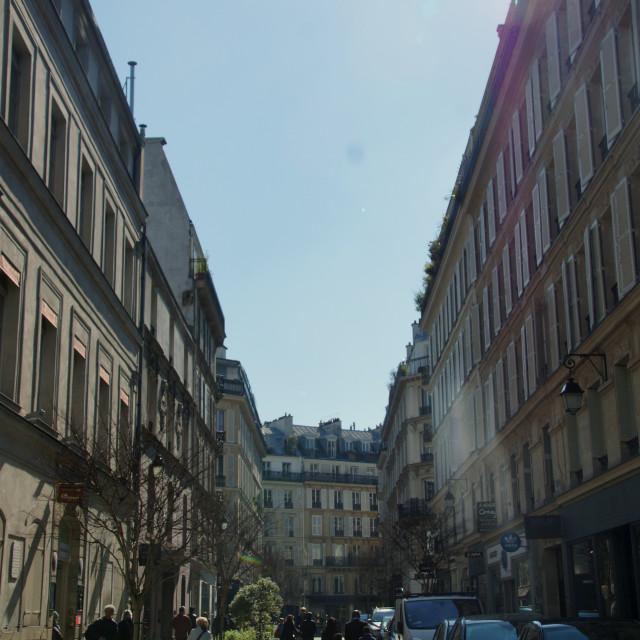 """""""Paris Jewish quarter"""" stock image"""