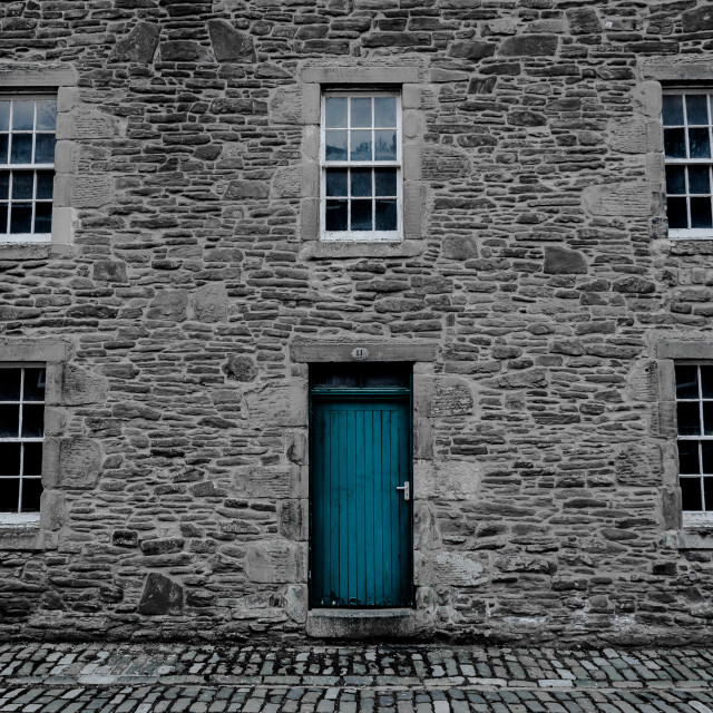 """New Lanark Housing"" stock image"