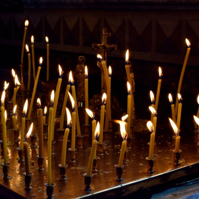 """""""A Candle for Each Soal"""" stock image"""