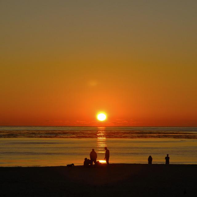 """Sunset California"" stock image"