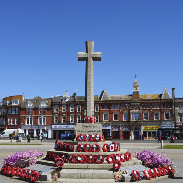 """War Memorial, Exmouth, Devon"" stock image"