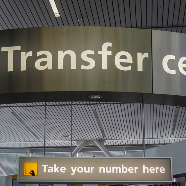 """Transfer information center"" stock image"