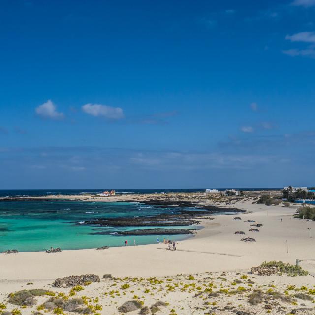 """""""Beach, El Cotillo"""" stock image"""