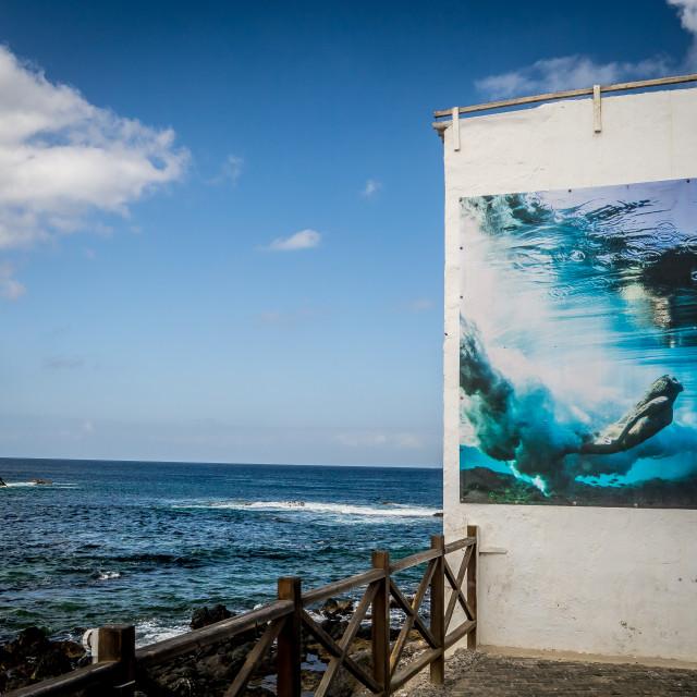 """""""Mural, El Cotillo"""" stock image"""