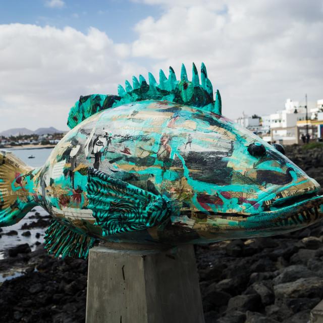 """Fish Sculpture"" stock image"