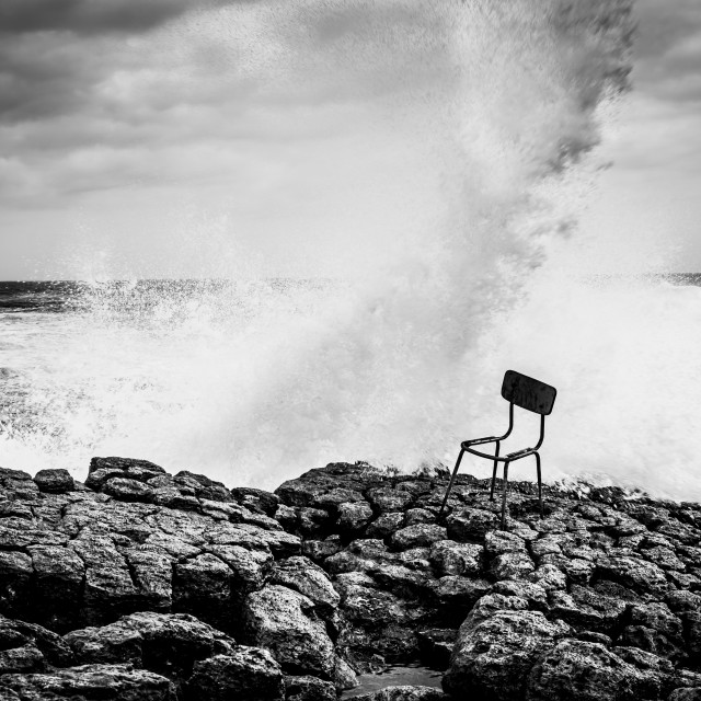 """Chair on the Rocks"" stock image"