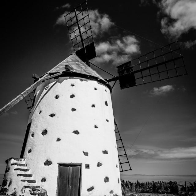 """Windmill, El Roque"" stock image"
