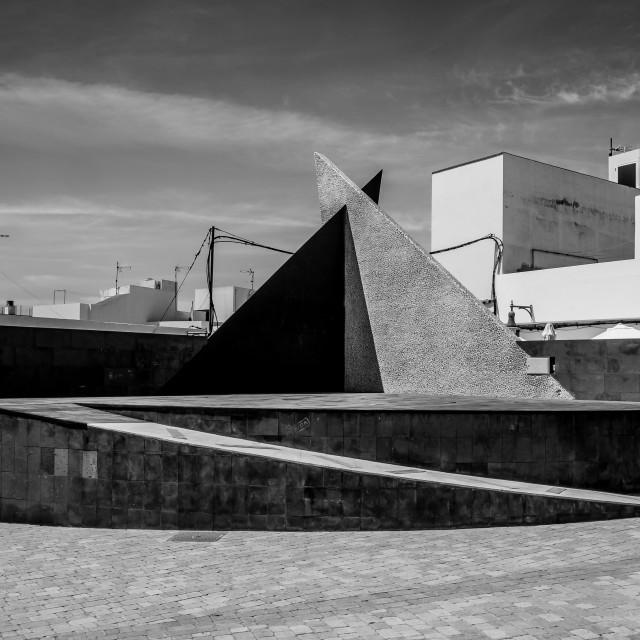 """""""Sculpture, El Cotillo"""" stock image"""